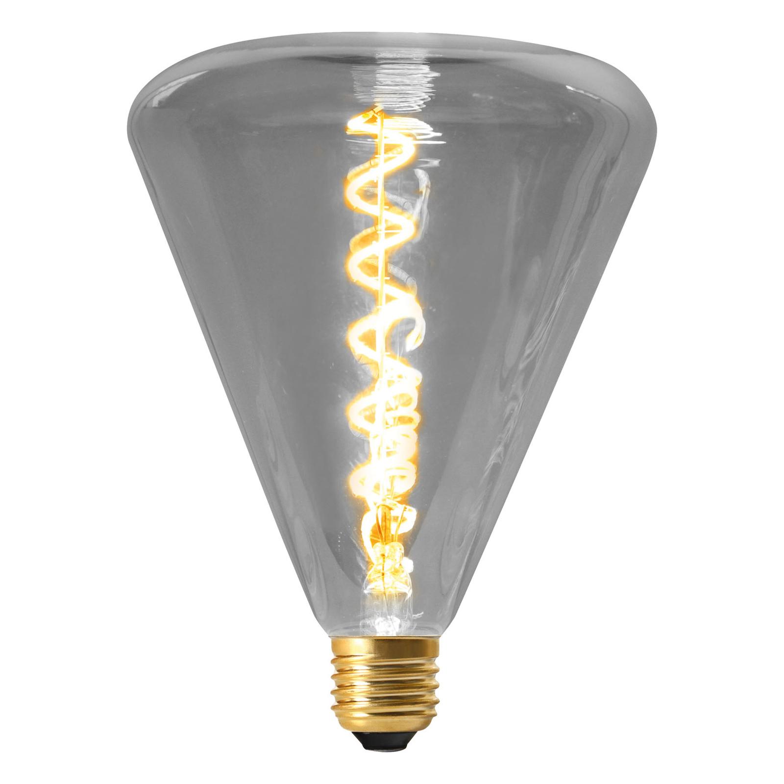 LED-pære Dilly E27 4 W 2200 K dimbare, grå