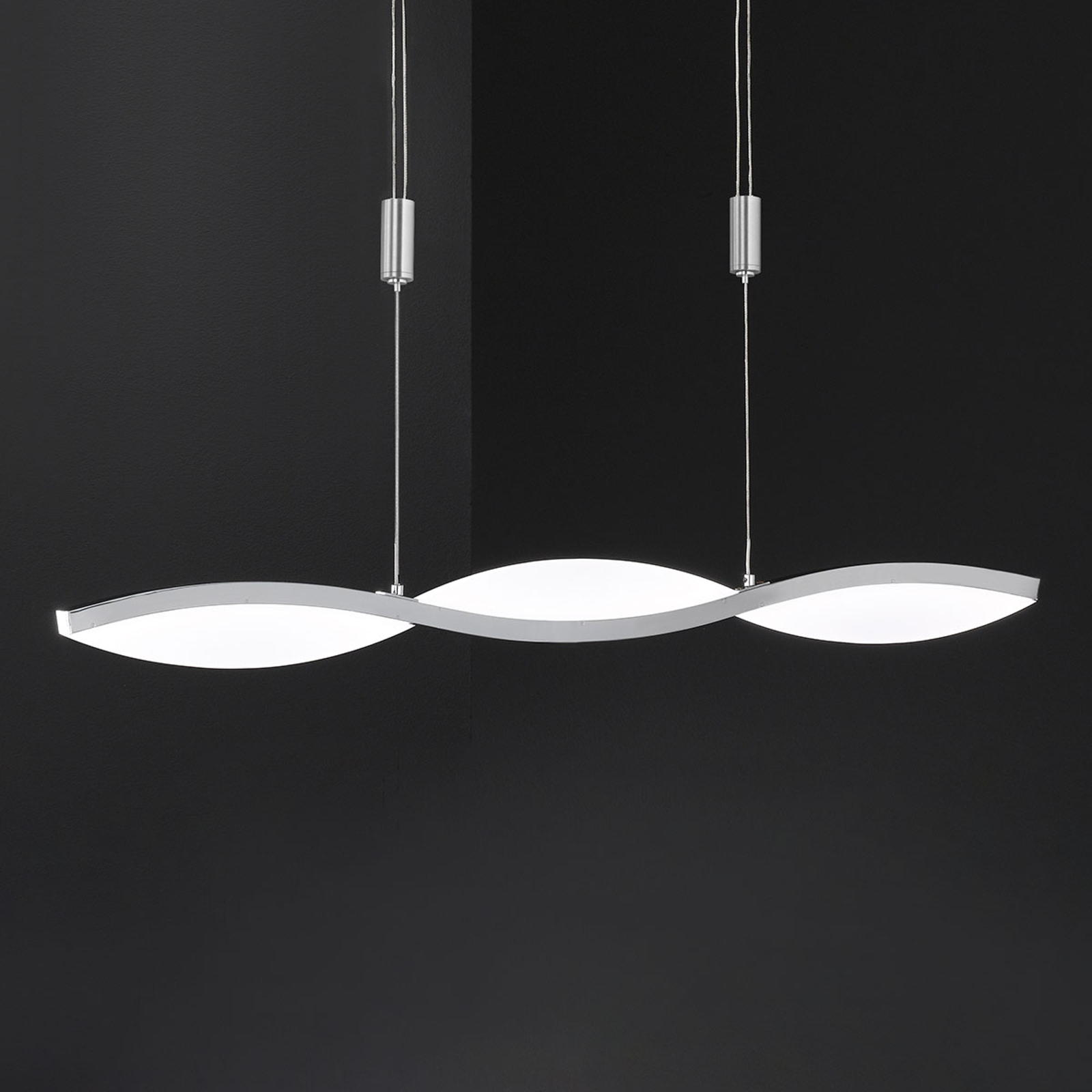 LED-Hängeleuchte Freya, höhenverstellbar