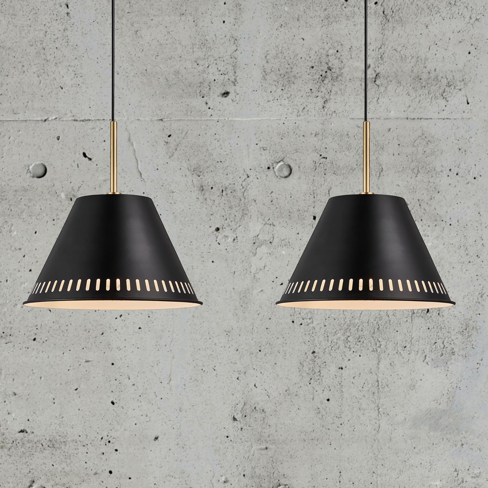 Suspension Pine, à 2 lampes, noire