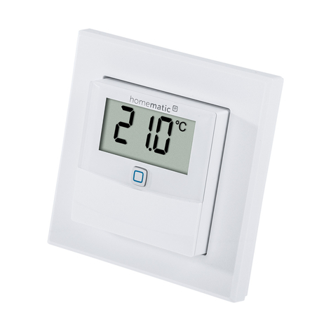 Homematic IP sensor temperatura/humedad display