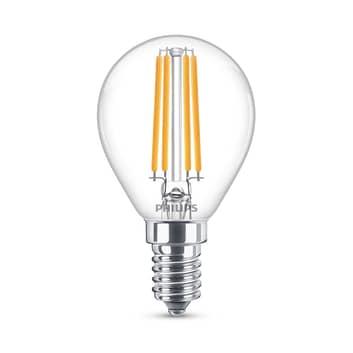 Philips Classic LED-pære E14 P45 6,5W 2700K klar