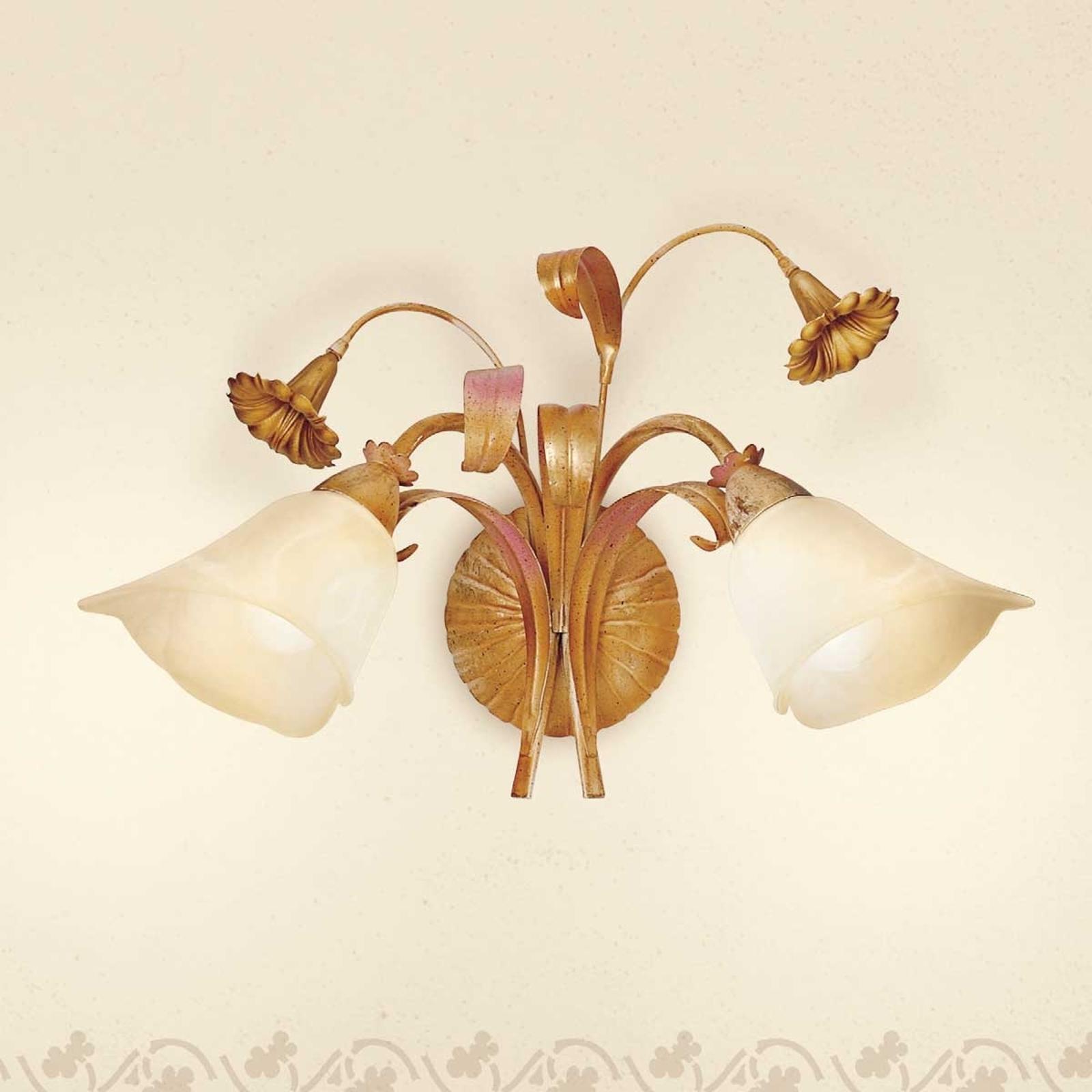 Florentijnse wandlamp Giovanni, 2-lichts