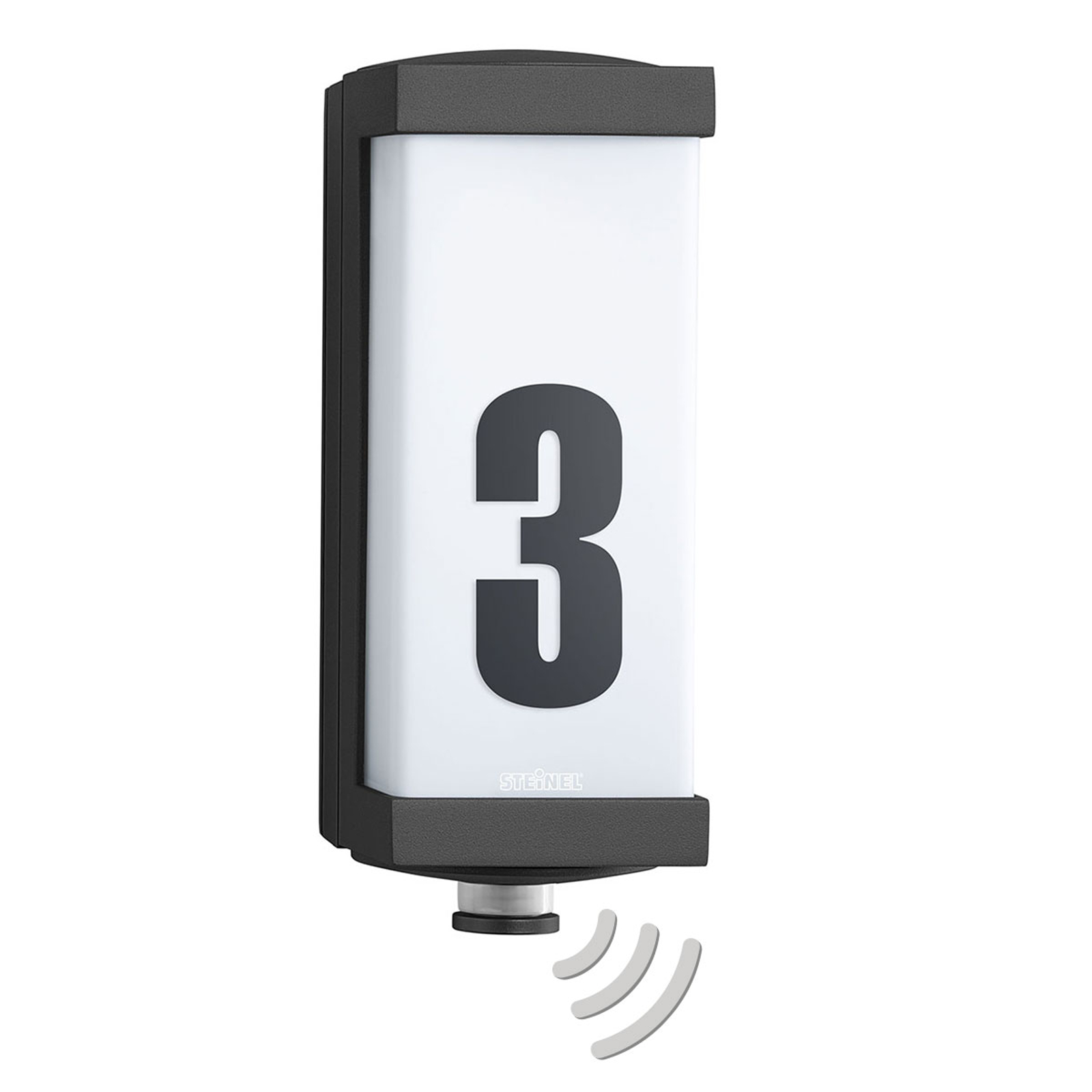 STEINEL L 666 V2 kinkiet zewnętrzny LED numer domu