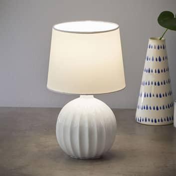 Stolní lampa Melanie s kulatou keramickou nohou
