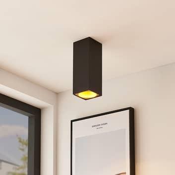 Arcchio Hinka stropní světlo hranaté 25,4cm černé