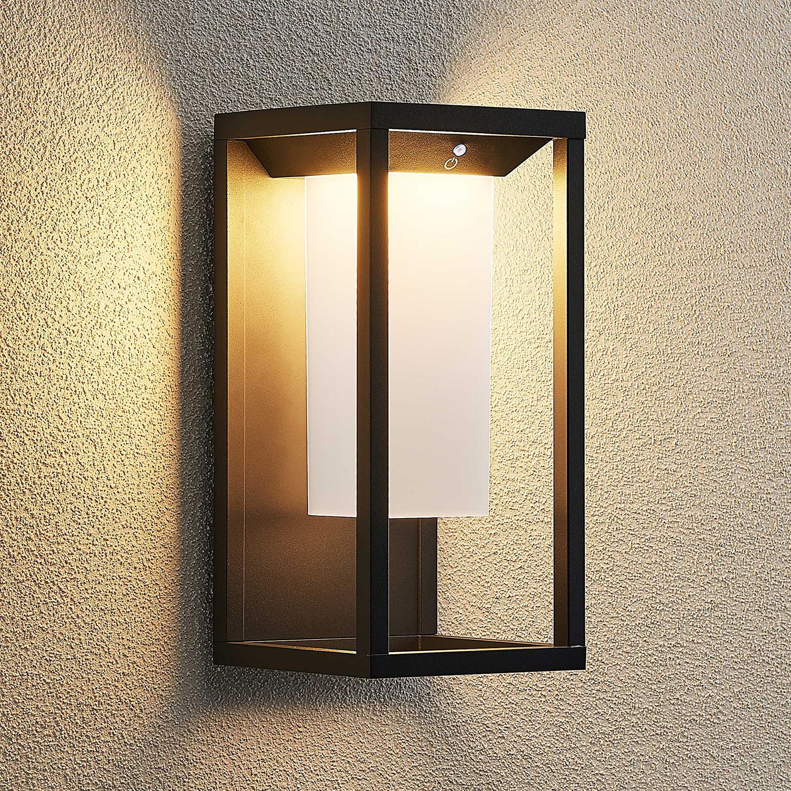 Lucande Eliel LED wandlamp op zonne-energie