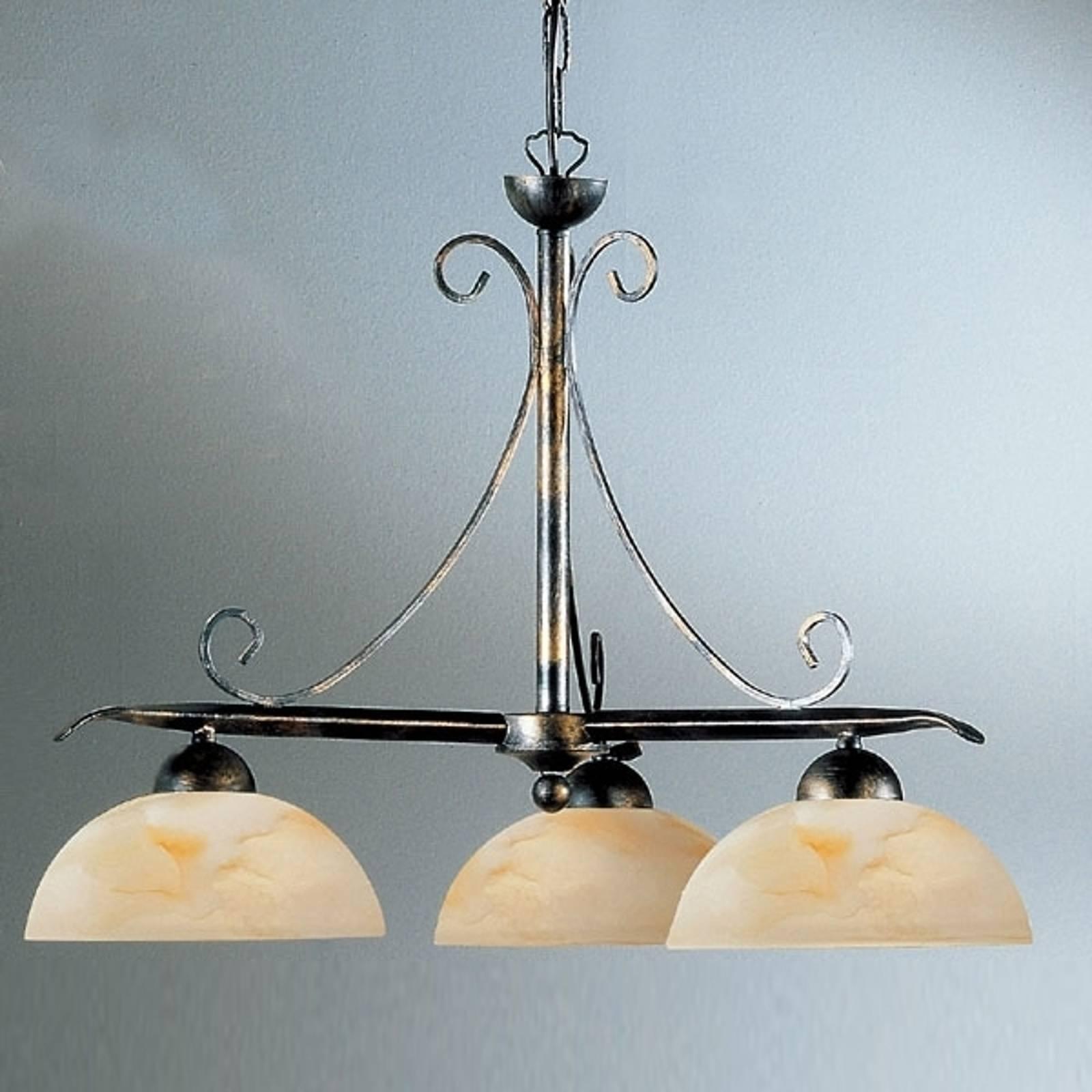Hanglamp Dana in landhuisstijl met 3 lampjes