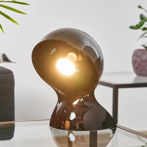 Lampada da tavolo di design nera Dalù
