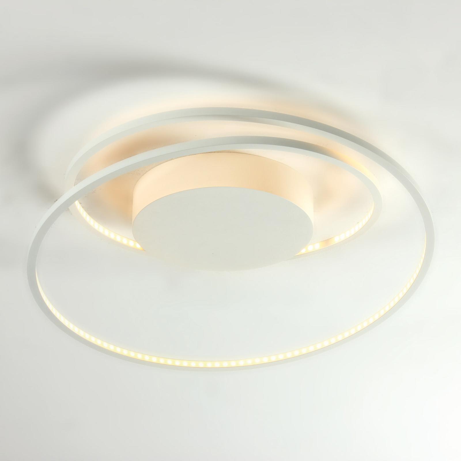 Exclusiva lámpara de techo LED Arroba en blanco