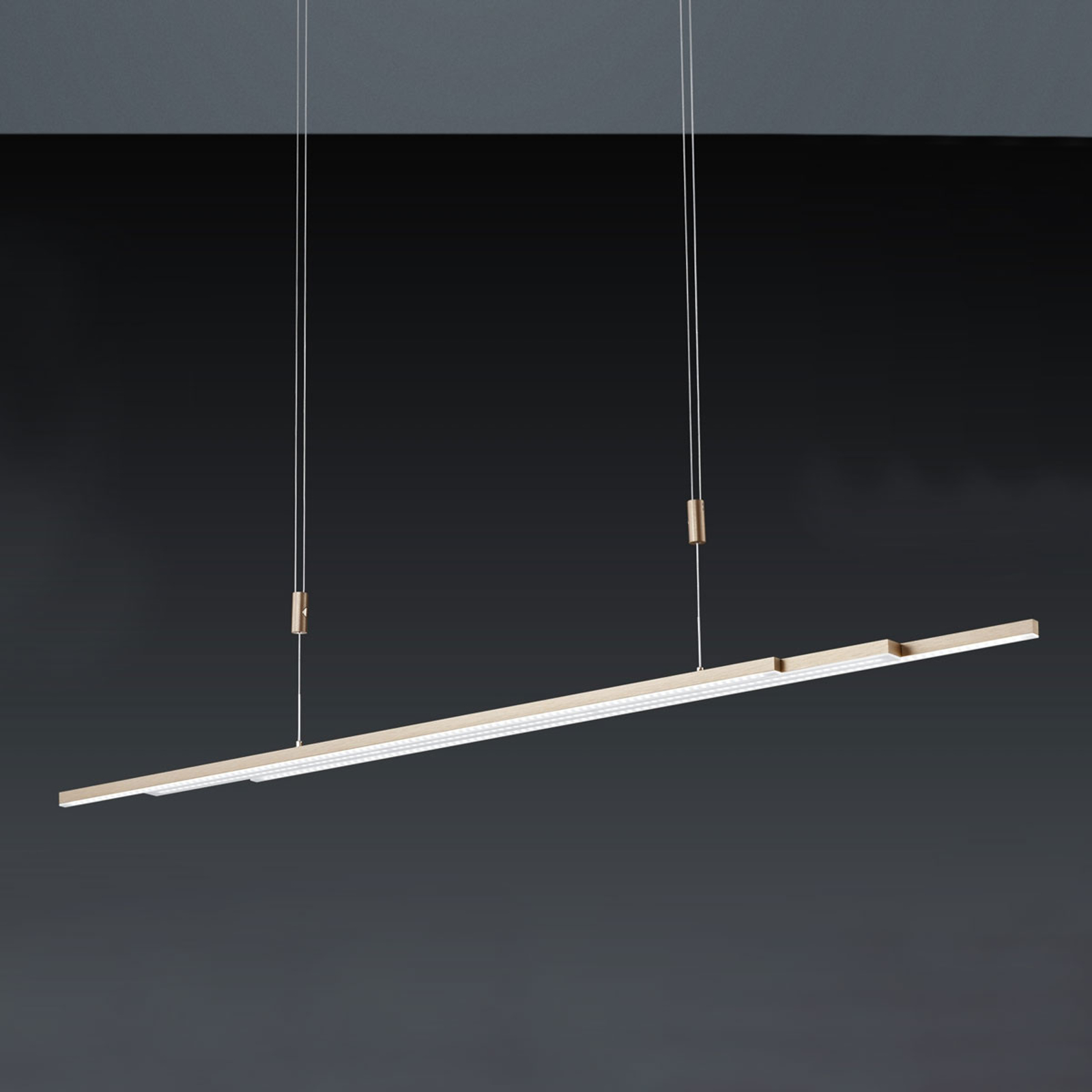BANKAMP L-lightLINE LED-hanglamp, rosé goud