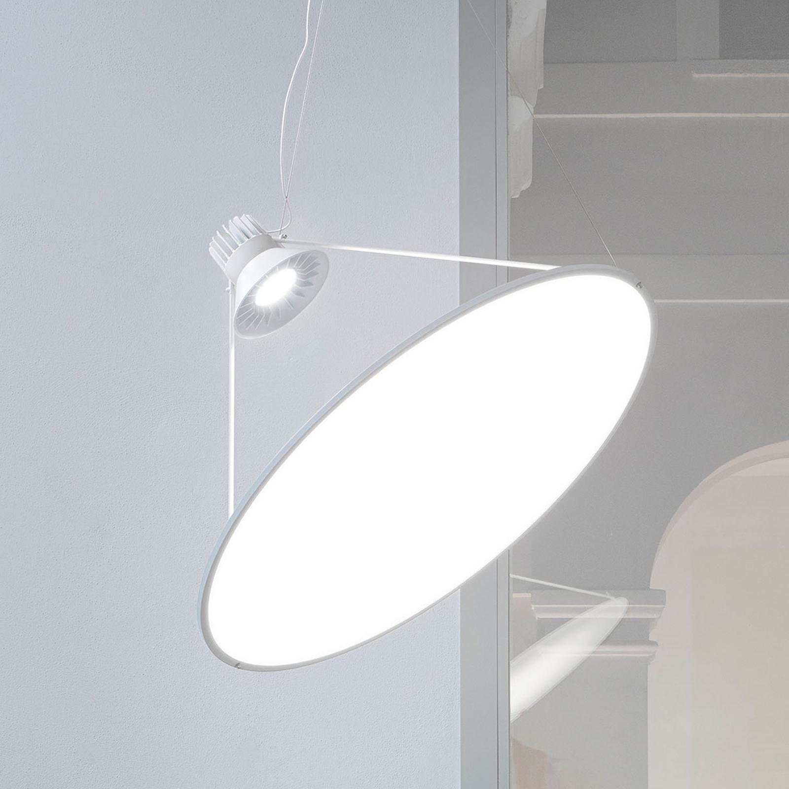 Luceplan Amisol LED-Pendelleuchte Ø 75cm opalweiß