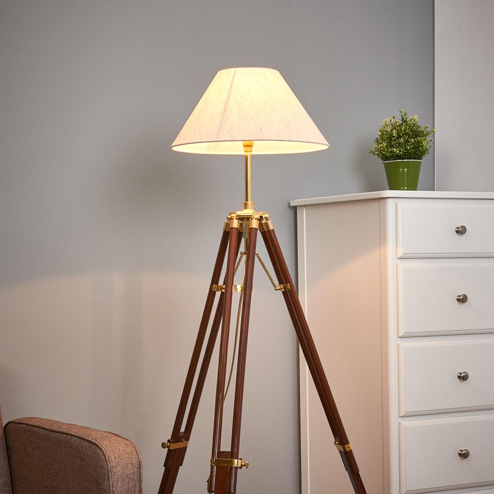 Wspaniała lampa stojąca STATIV z białym kloszem