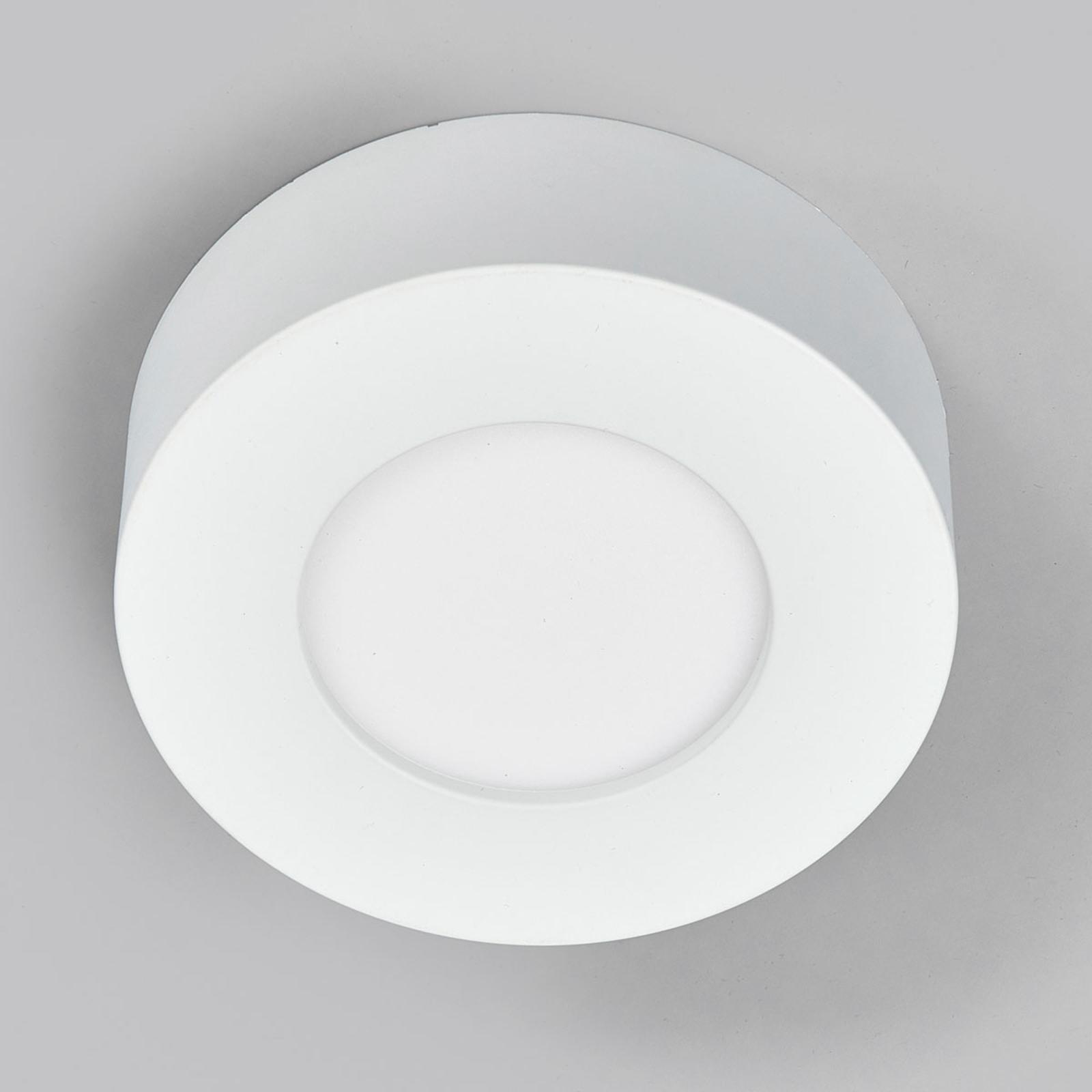 Plafonnier LED Marlo blanc 4000K rond 12,8cm