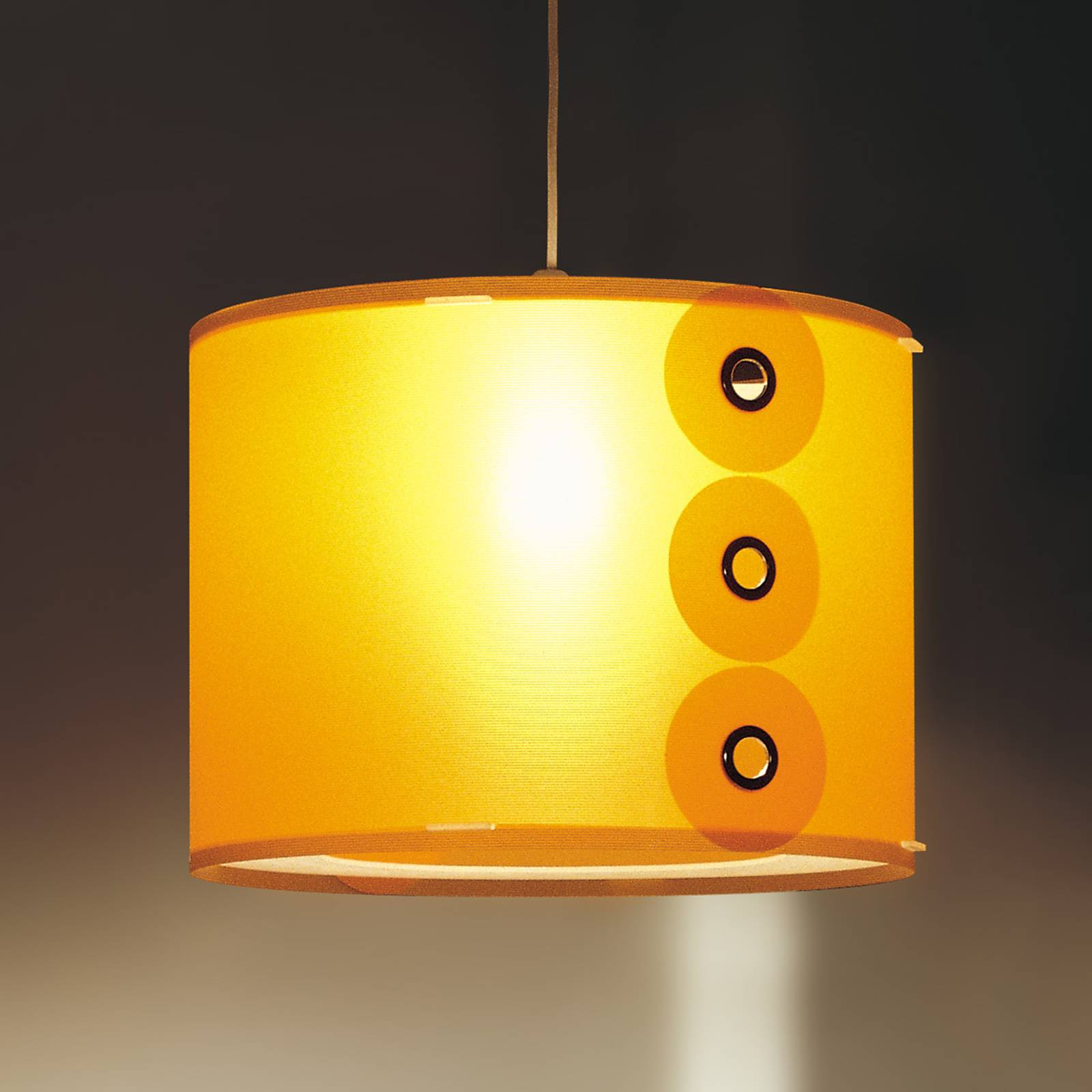 Oranje gekleurde hanglamp Rotho