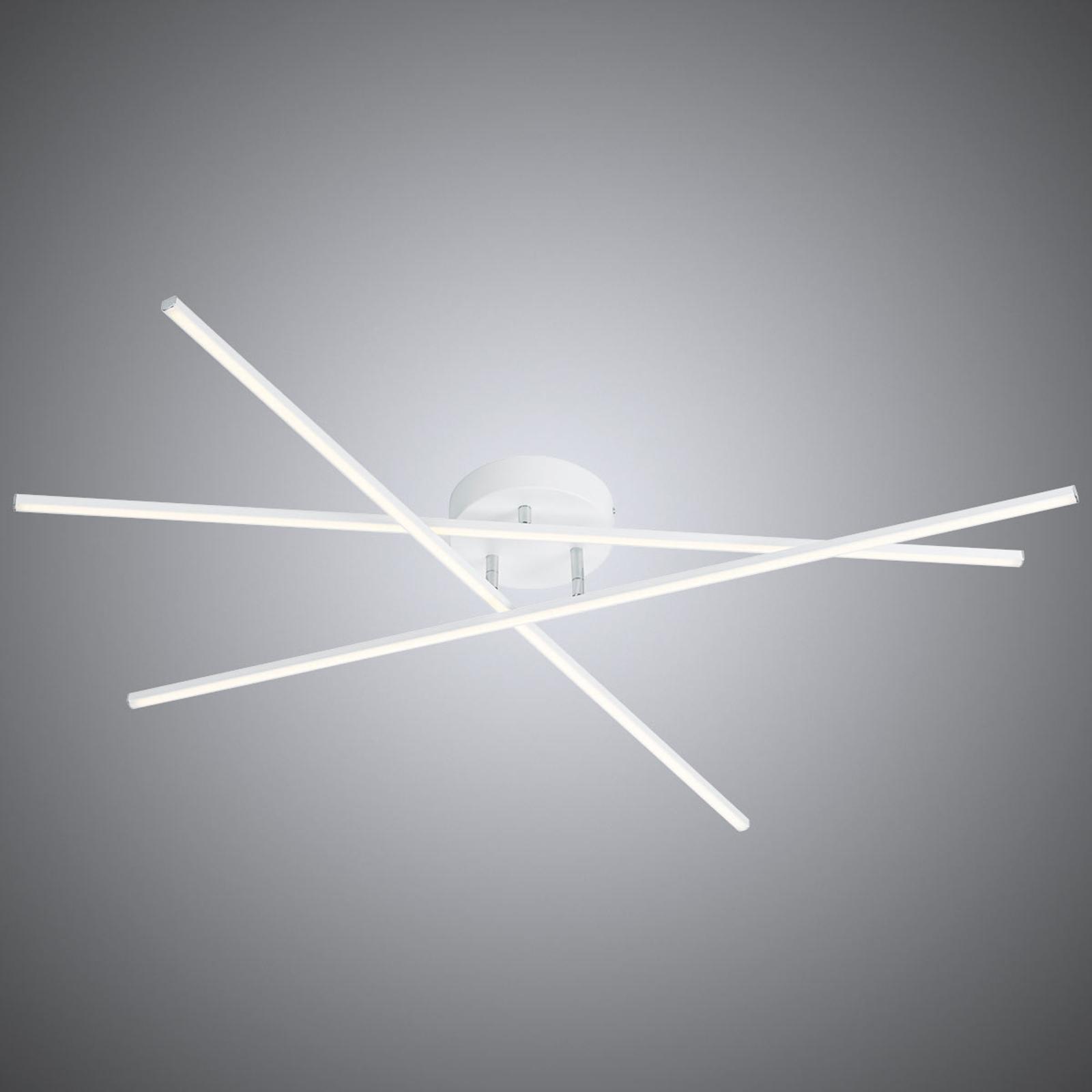 Hvit LED-taklampe Tiriac med Switchdim-funksjon