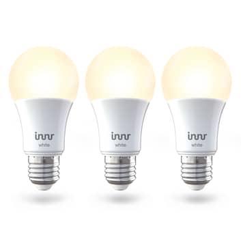 Innr Smart LED-pære E27 9 W varmhvid 806lm, 3 stk