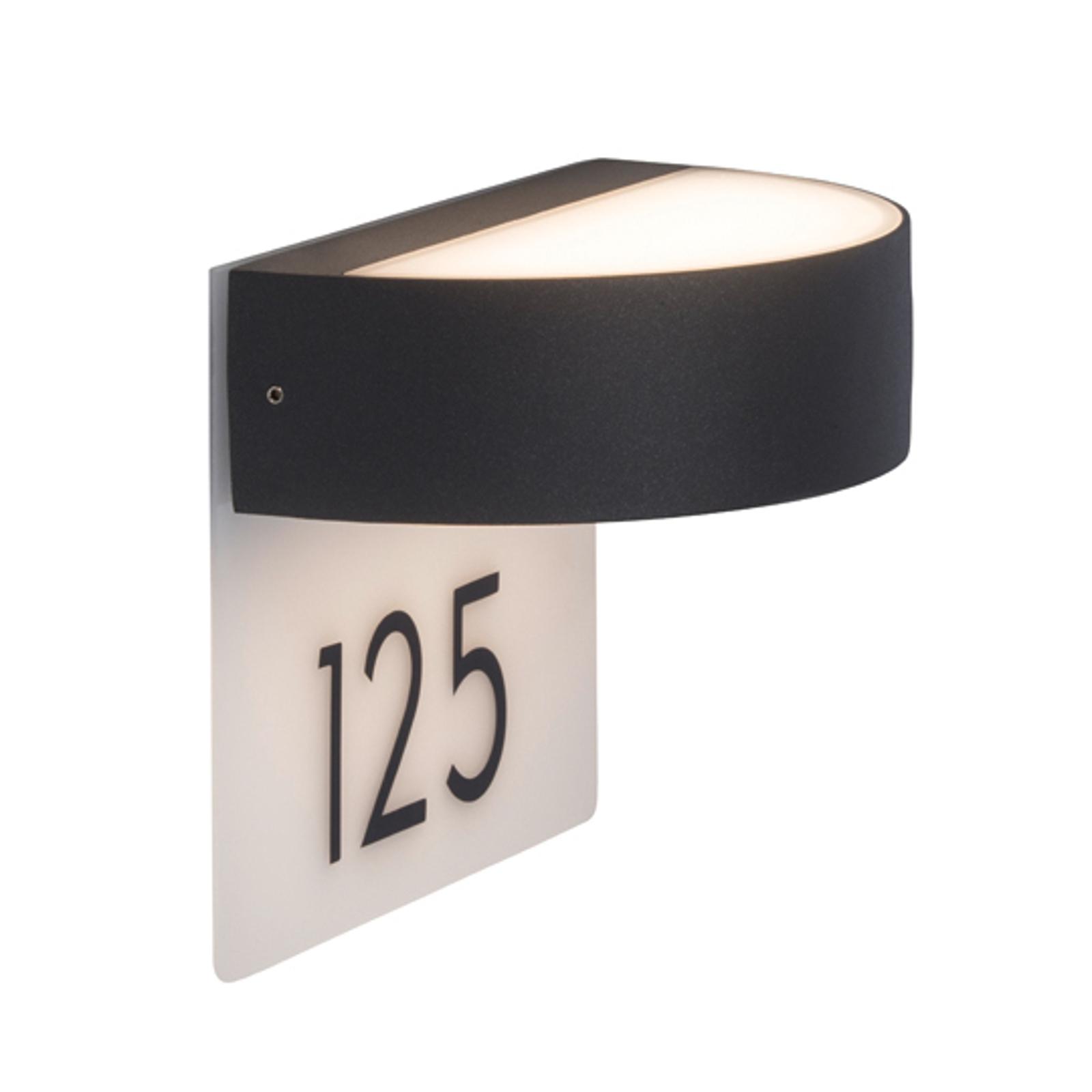 Elegant husnummerlampe Monido