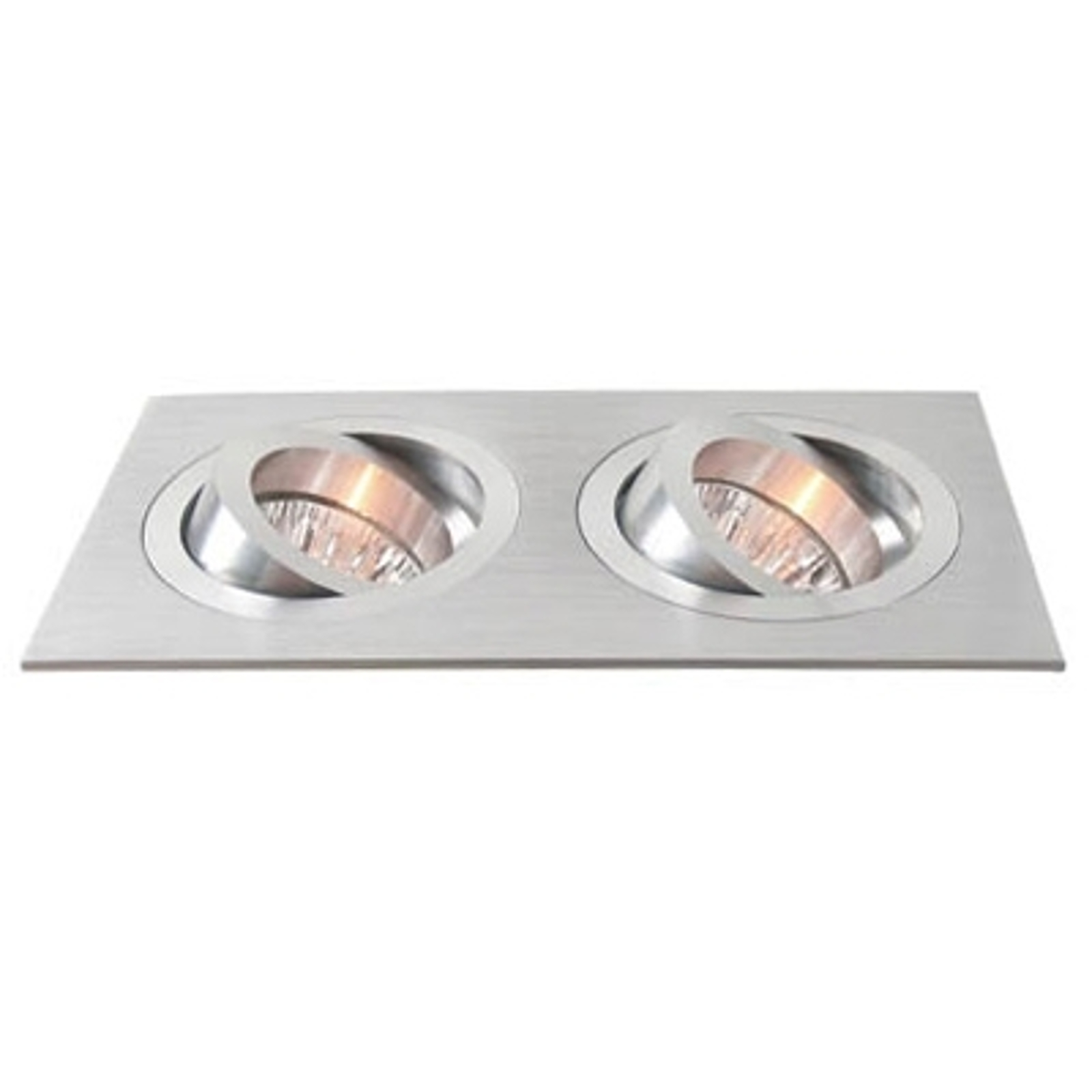 2-bulb pivotable aluminium recessed light_2501077_1