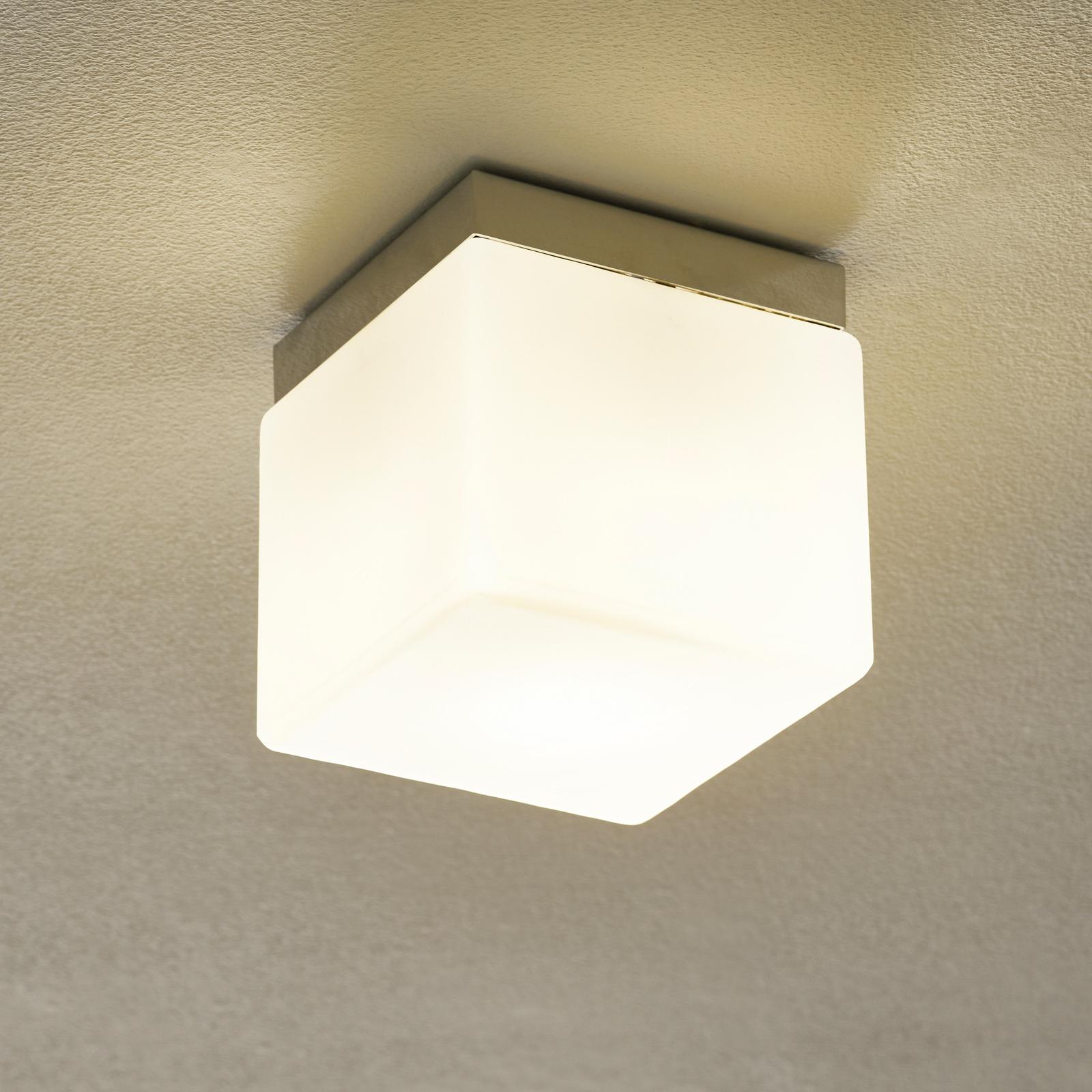 Tafellamp Cubis, chroom