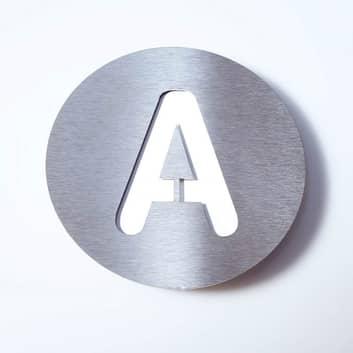 Numero civico di acciaio inossidabile Round