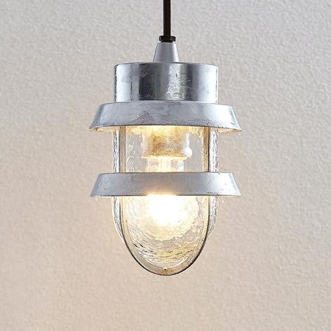 Venkovní závěsné svítidlo Alvaro, stříbrné