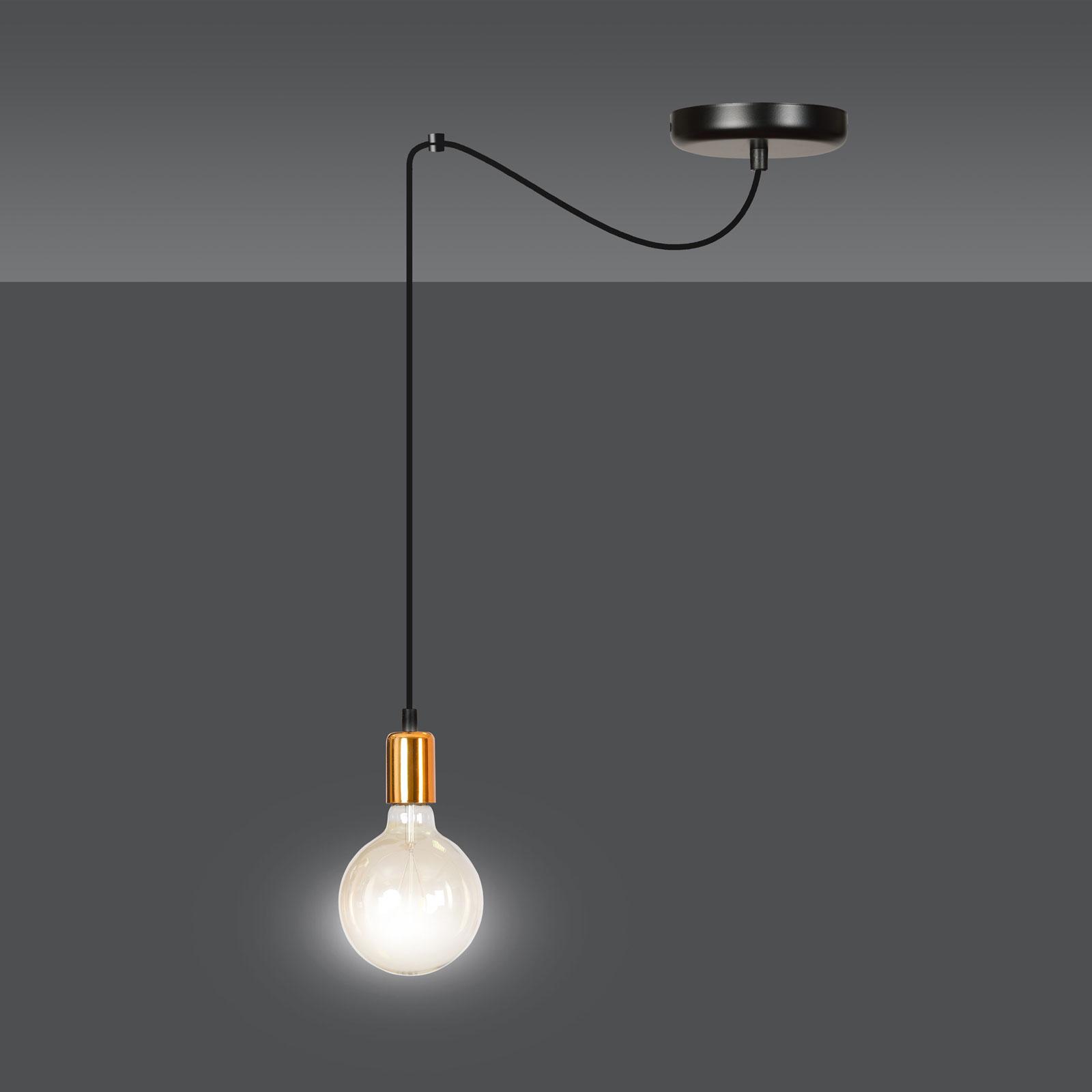 Lampa wisząca Spark 1 1-pkt., czarno-miedziana