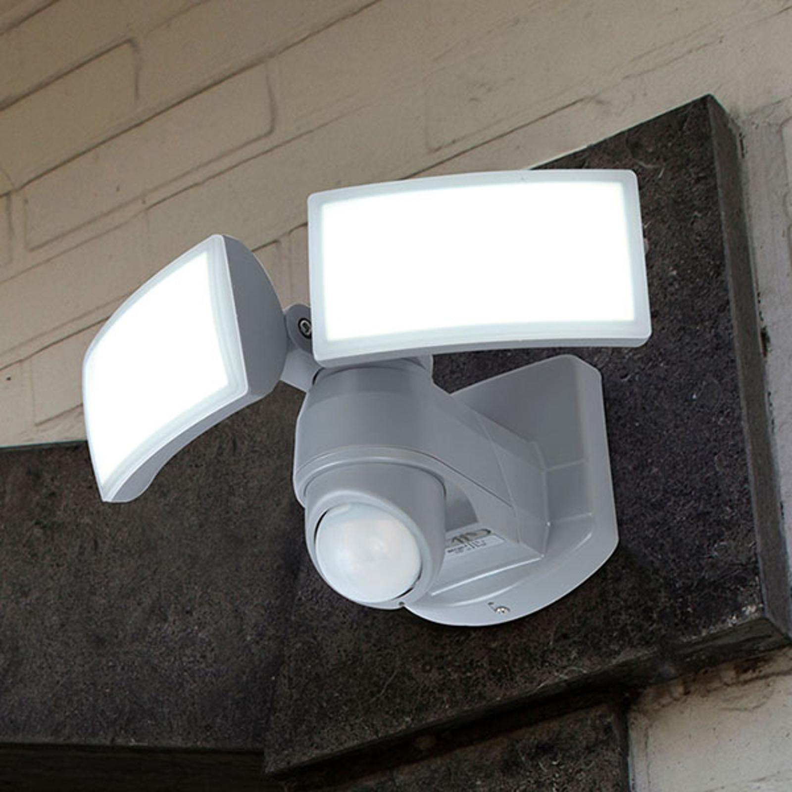 LED-utespot Arc med sensor, hvit