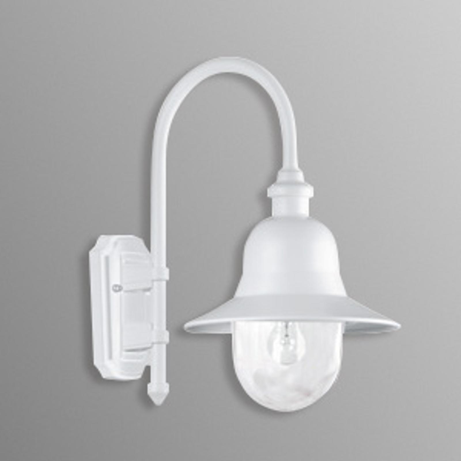 Tijdloos mooie outdoor wandlamp Nios wit