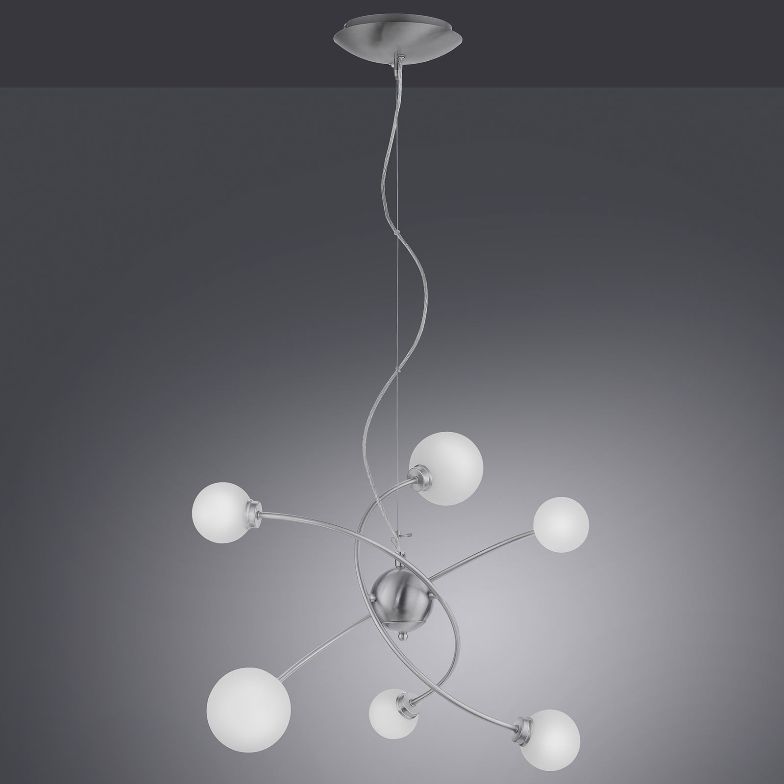 Trio WiZ Dicapo LED-Pendelleuchte, sechsflammig
