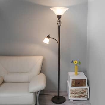 Lampadaire LED Dunja avec liseuse
