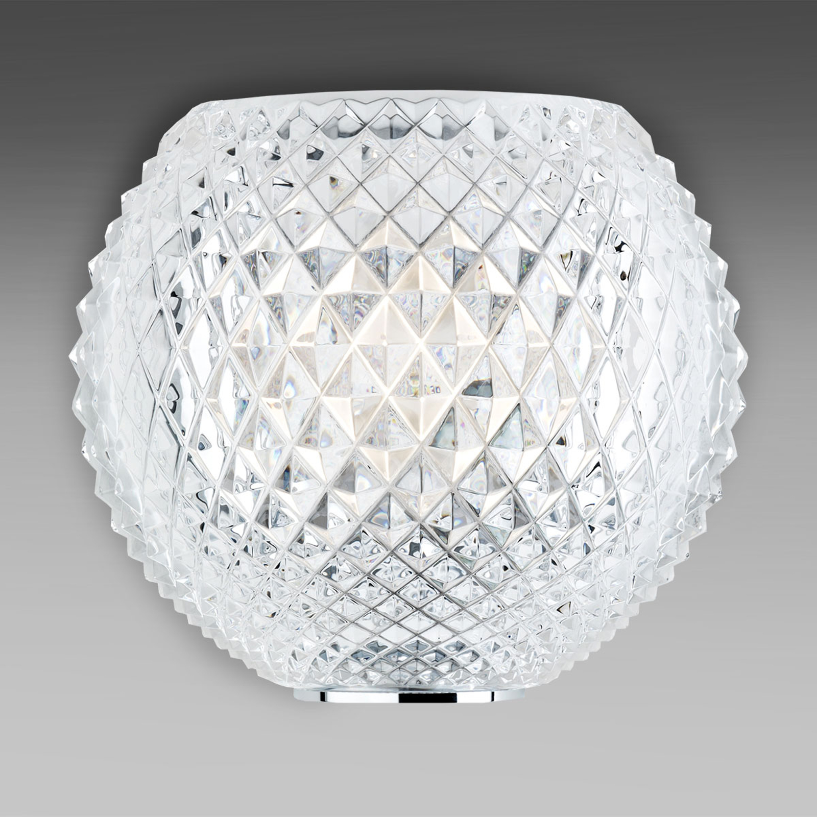 Mønstret krystall-hengelampe Diamond og Swirl