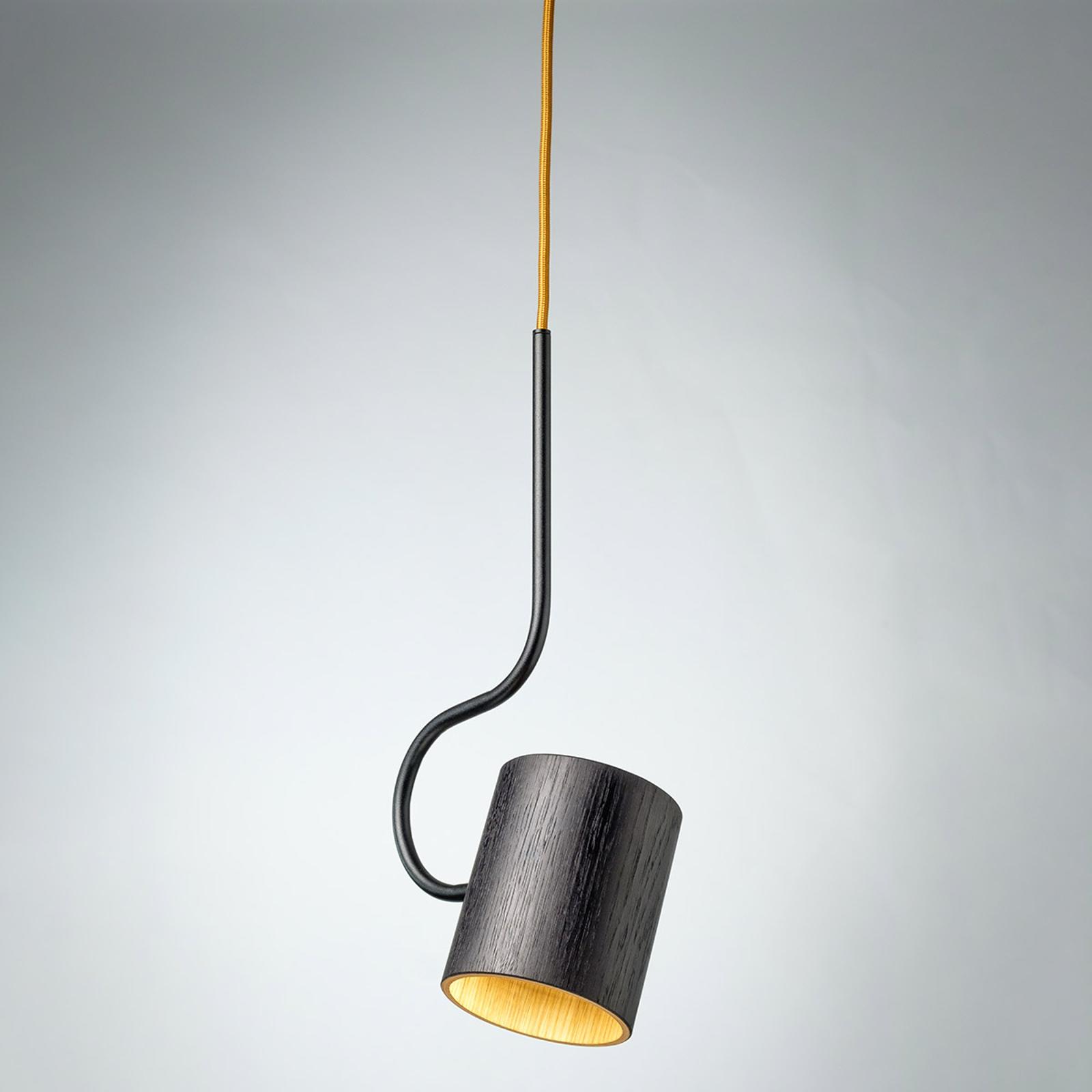 Hanglamp Bocal met houten kap