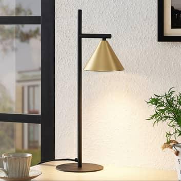 Lucande Kartio lampe à poser, laiton
