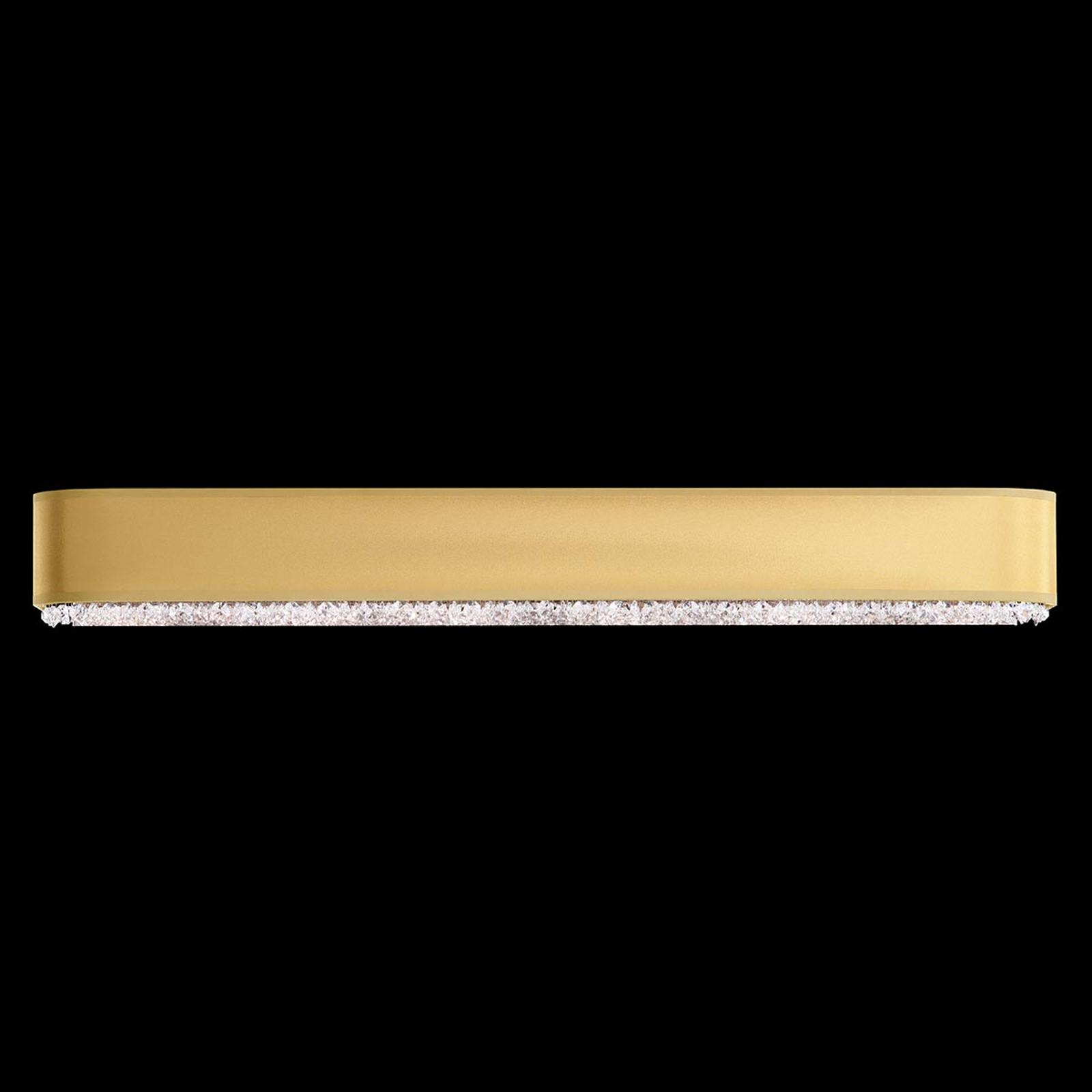 Schonbek Eclyptix Kristall-Wandleuchte, 91cm Gold
