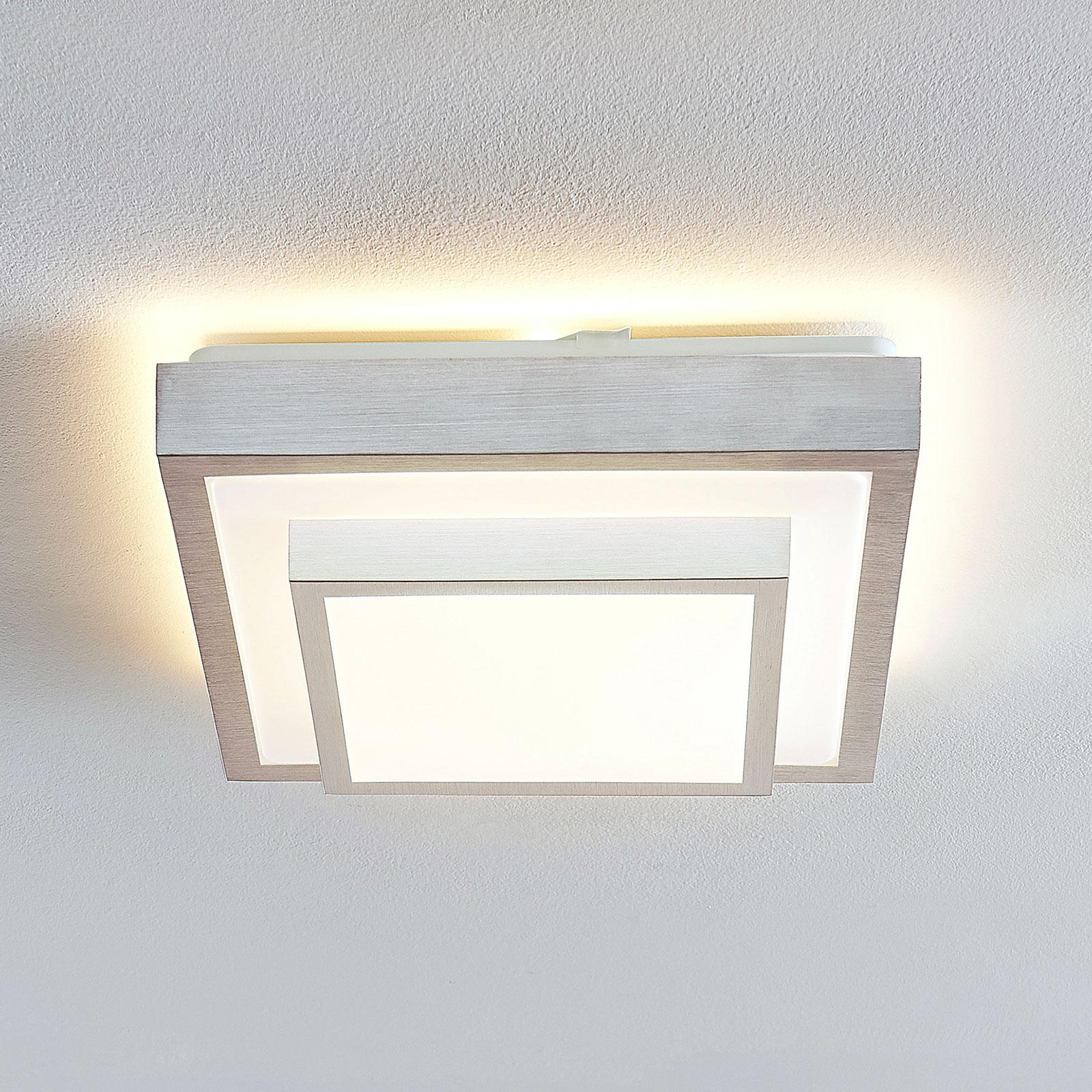 Lindby Mirco LED-loftlampe i alu, kantet, 32 cm