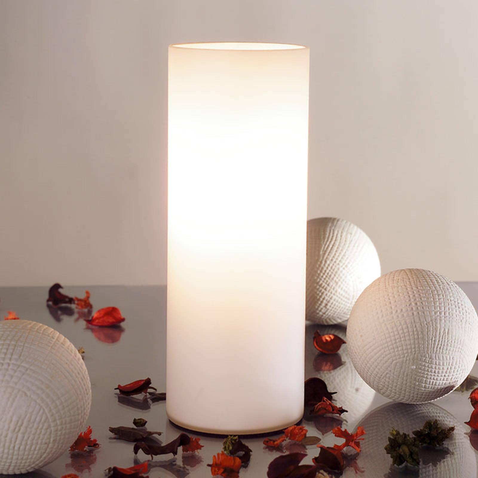 Paulmann Noora tafellamp van opaalglas