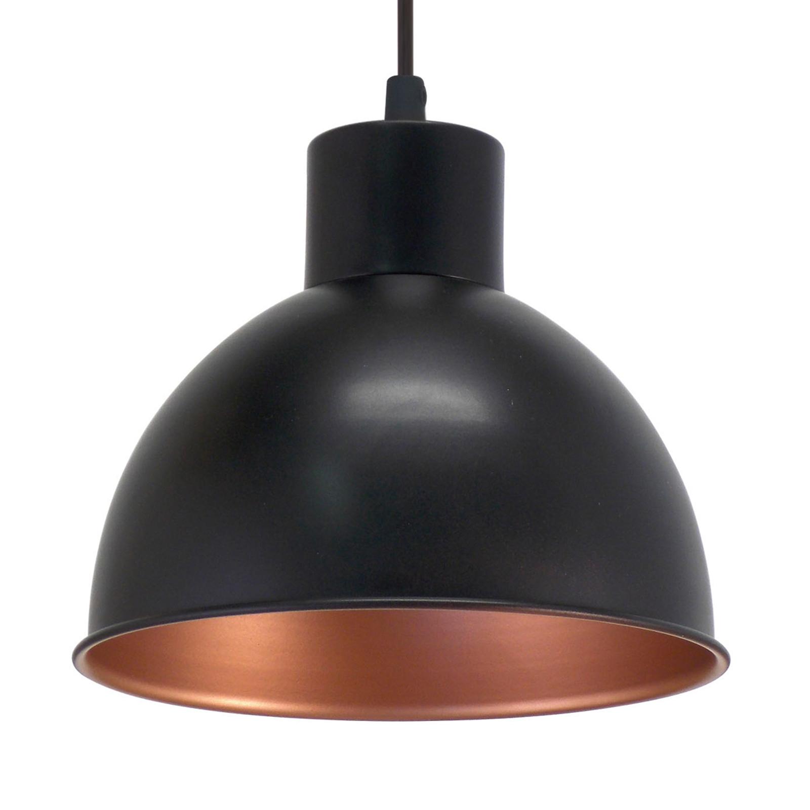 Andrin Black Pendant Lamp - Copper Interior_3031601_1