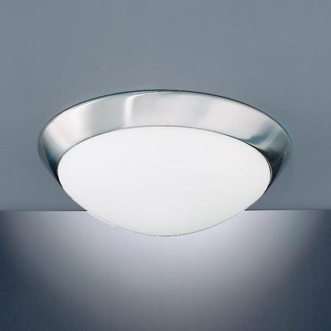 Pæn loftlampe Katrin IP44, mat nikkel