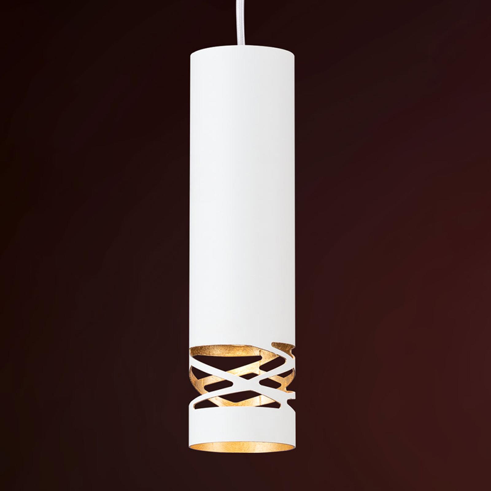 Buisvormige hanglamp Trance m. goudinleg