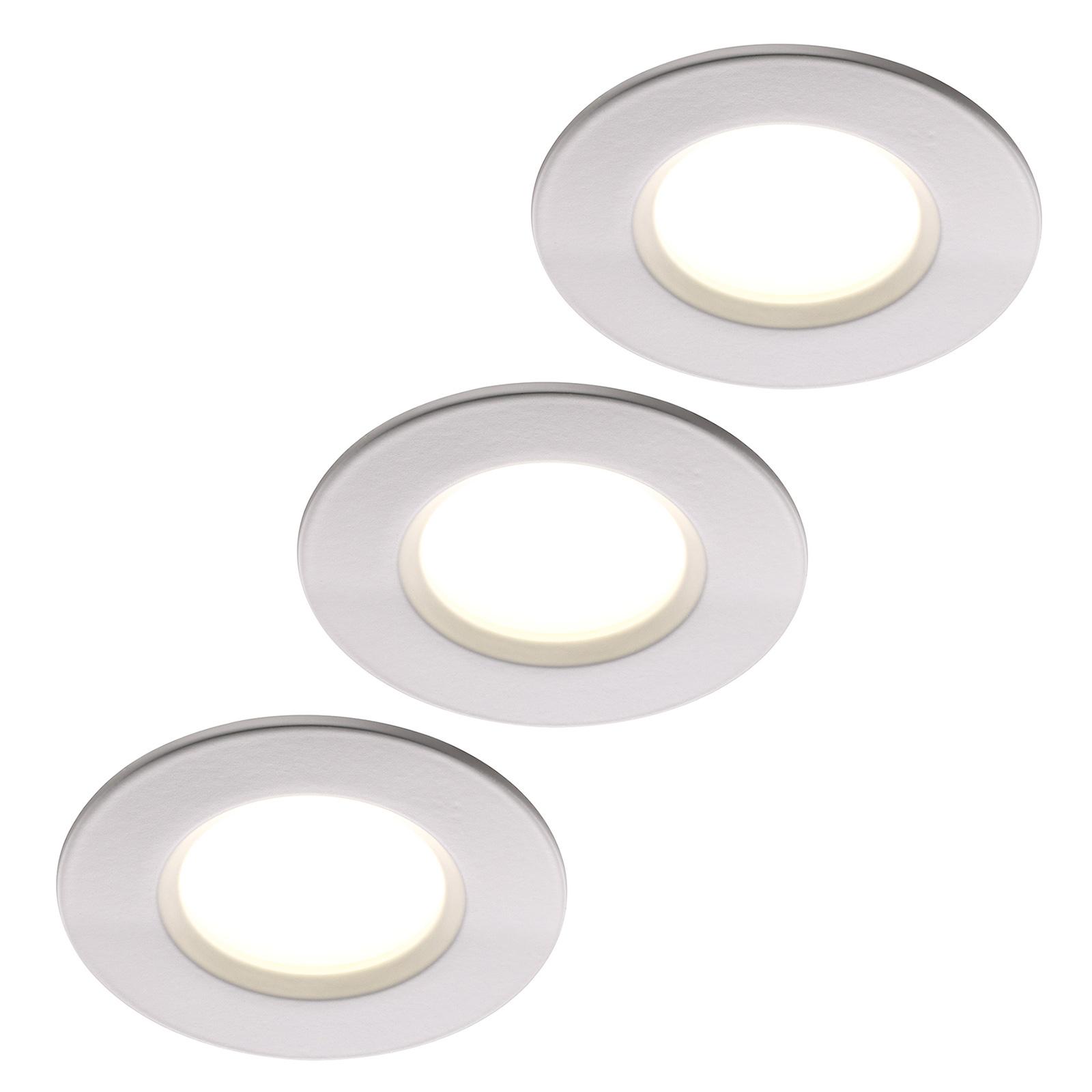 LED-Einbauleuchte Clarkson 3er-Set, rund, weiß