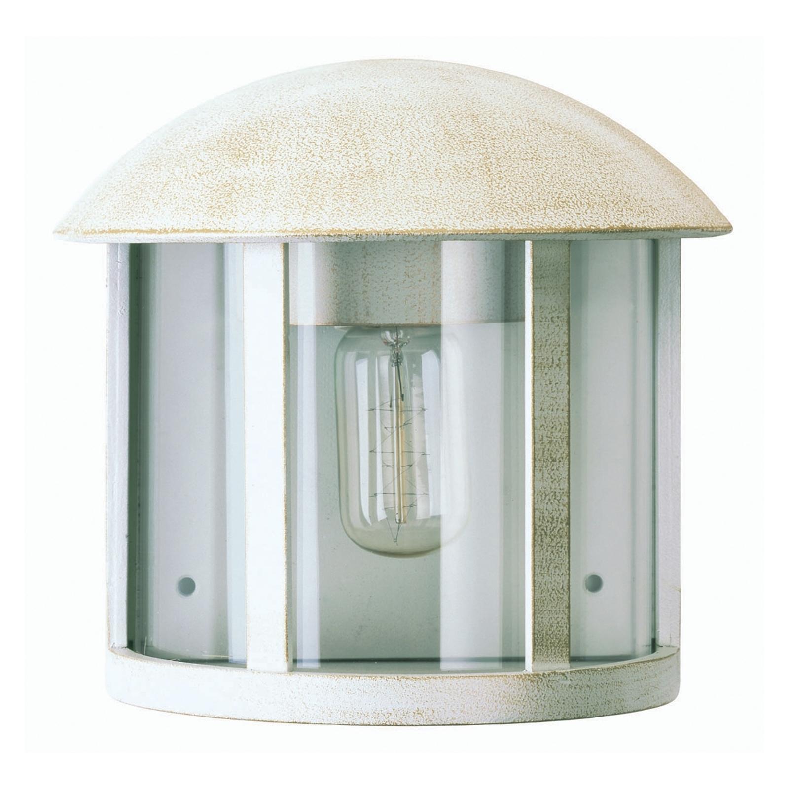 Zewnętrzna lampa ścienna Gerlin biało-złota