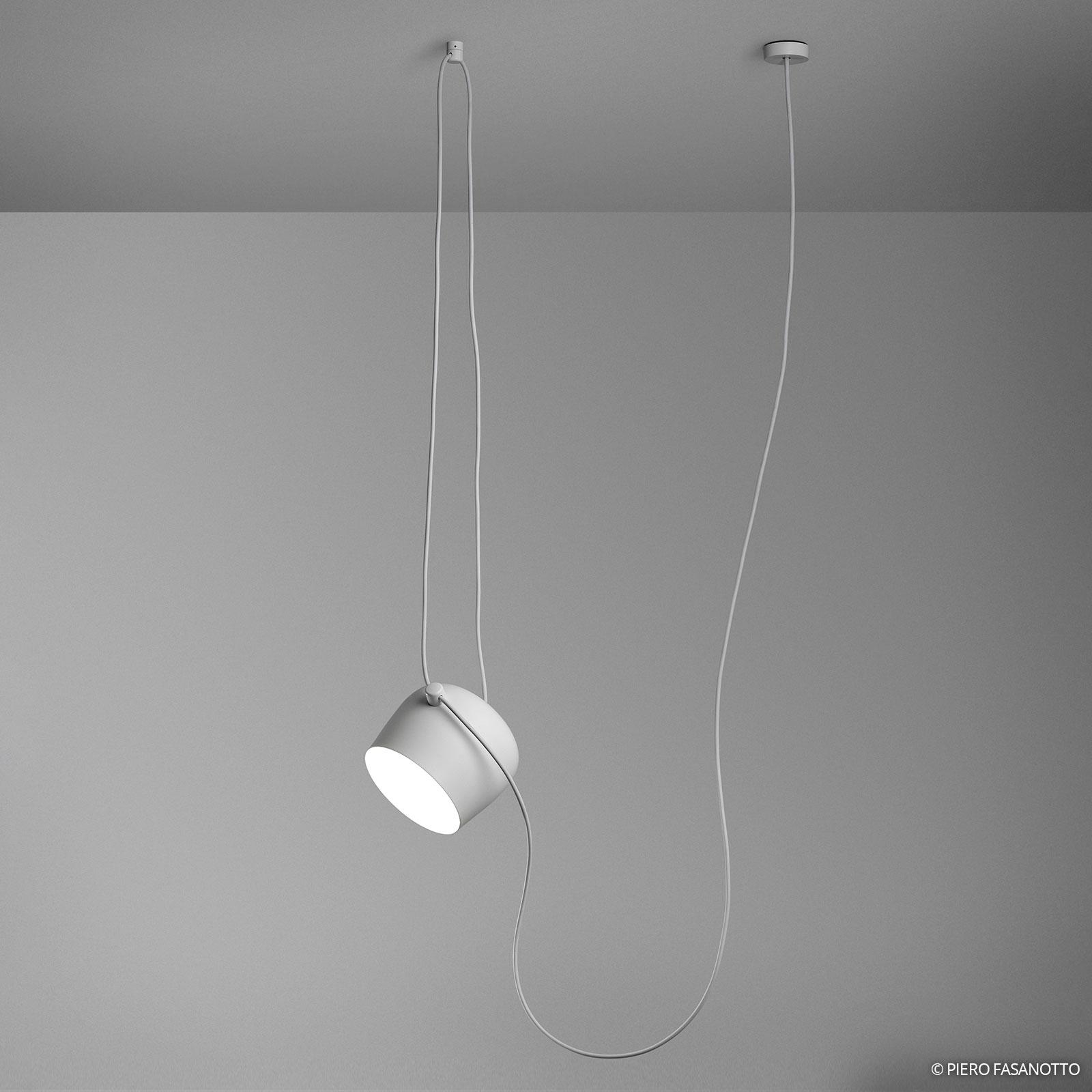 Lampada a sospensione LED Aim bianca