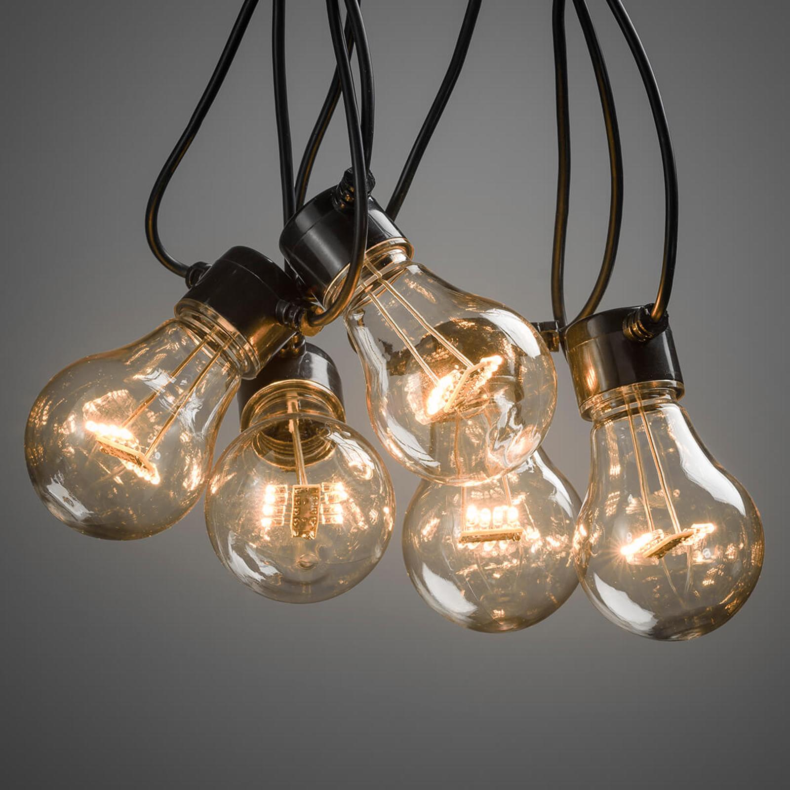 10-lamps LED lichtketting Biergarten