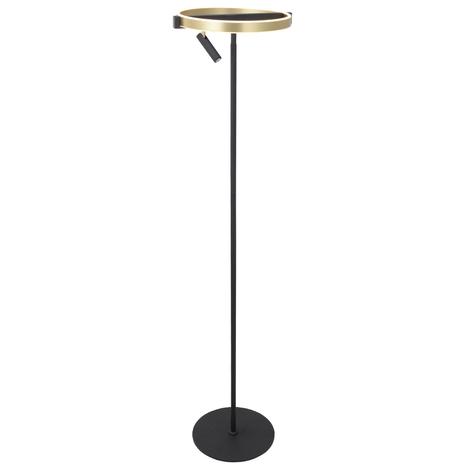 Lucande Matwei -LED-lattiavalo, pyöreä, messinkiä