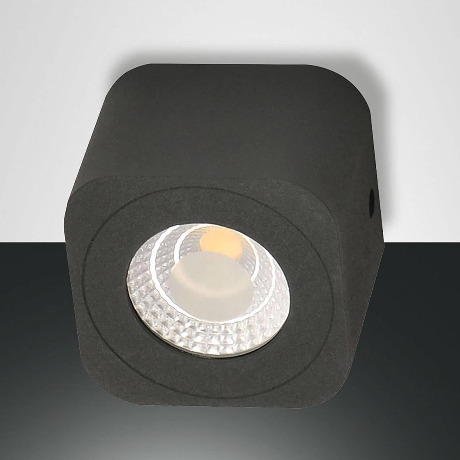 Vierkant LED downlight Palmi in antraciet