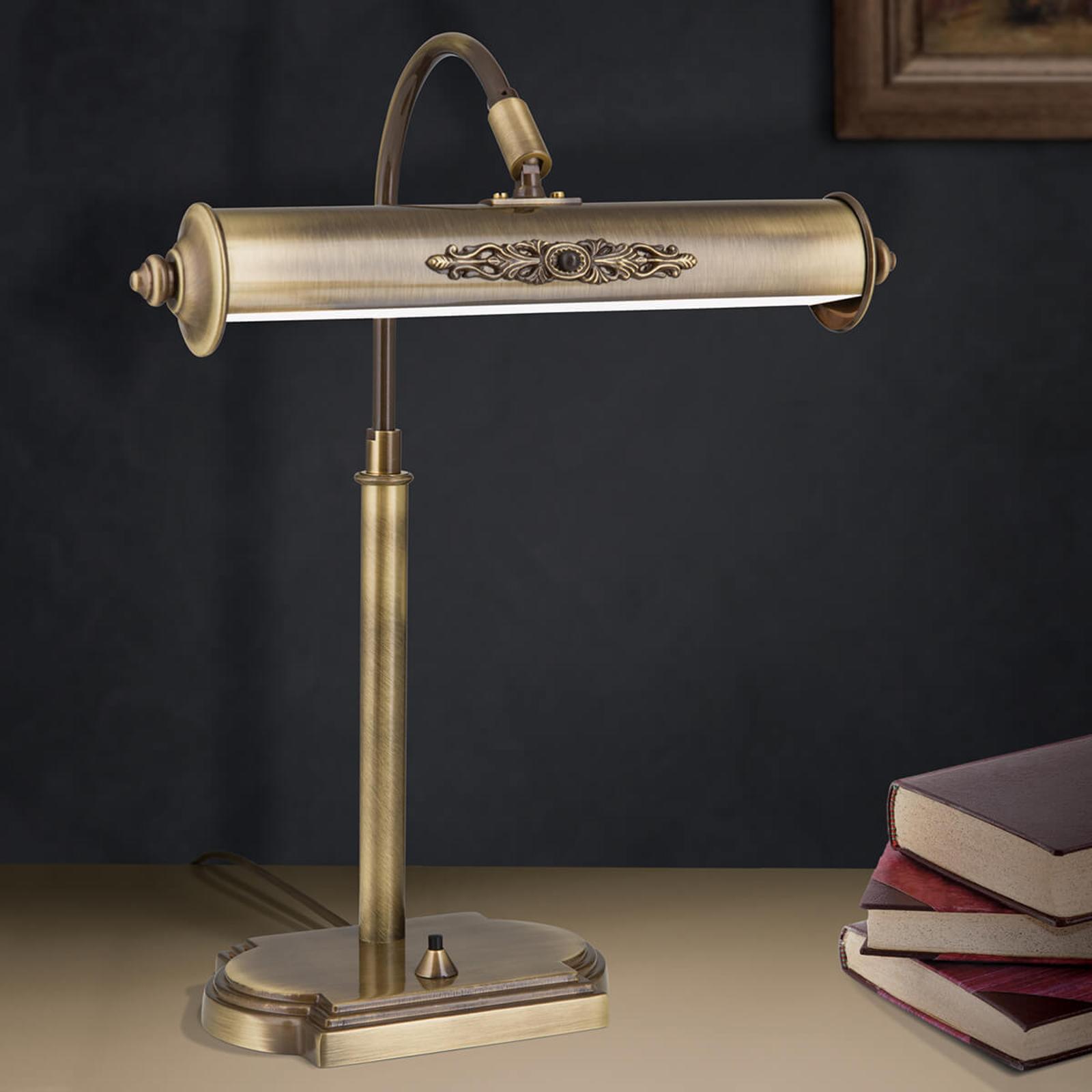 Skrivebordslampe Picture i antik messing