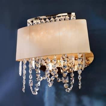 Lámpara de pared Jevana exclusiva con cristales