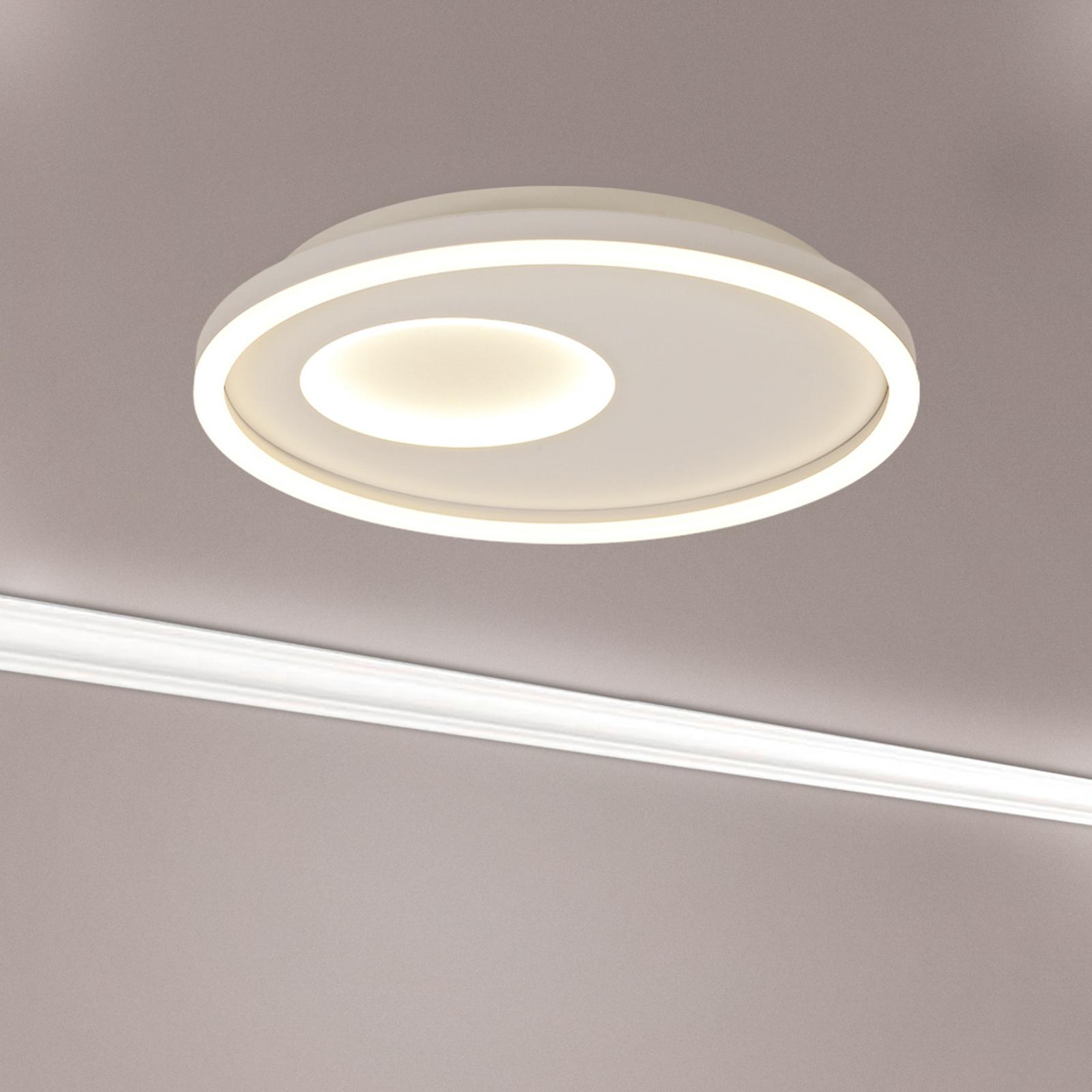 LED-vegglampe Krater hvit justerbar hvit dimbar
