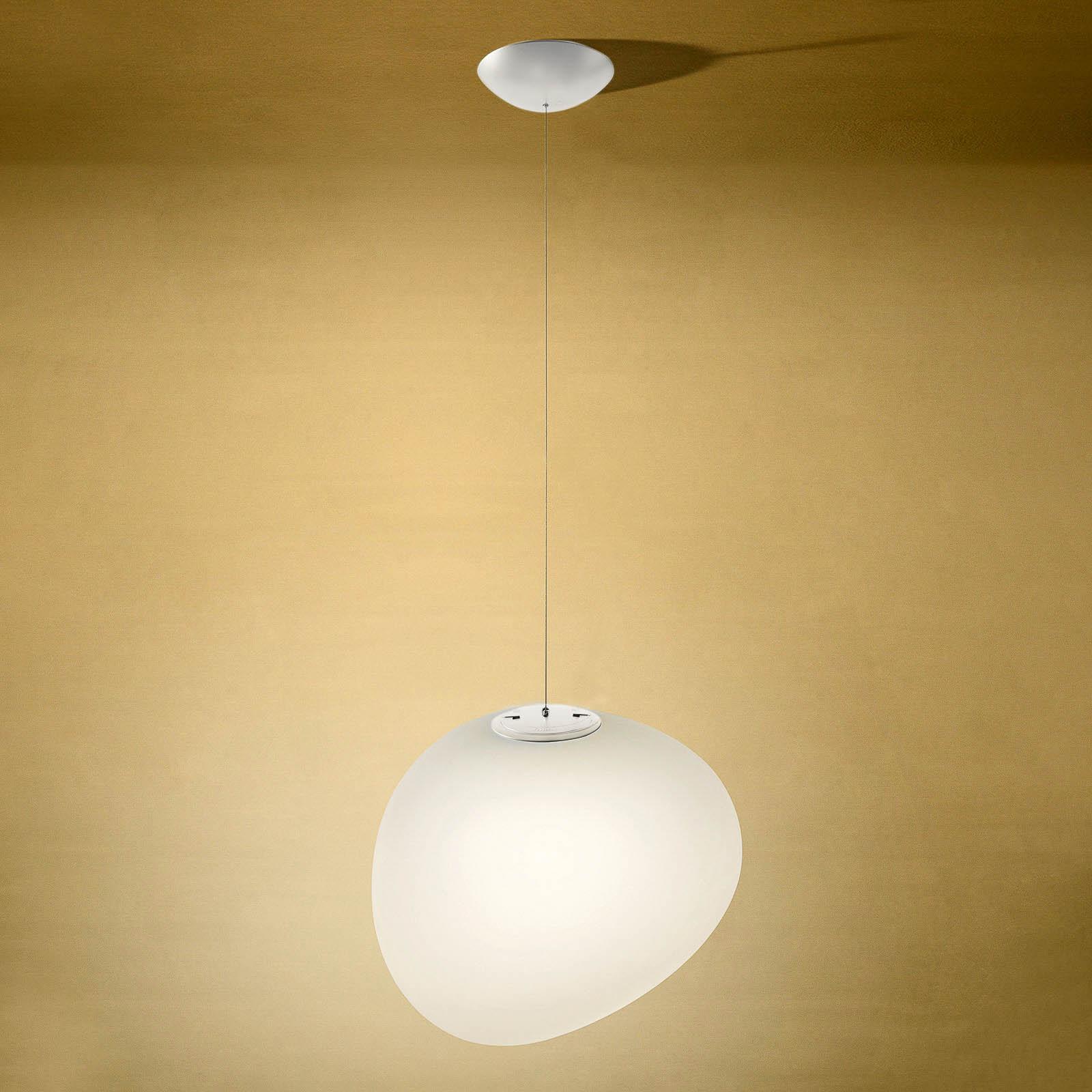 Foscarini Gregg midi -LED-riippuvalaisin valkoinen