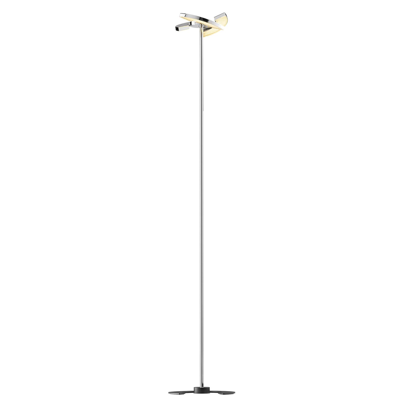 OLIGO Trinity LED-gulvlampe, 3 bevegelige segment